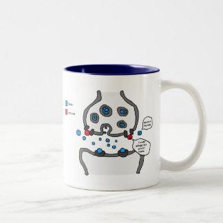 Podría ponerle en contra taza de café de dos colores