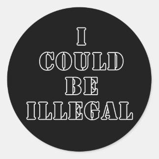 Podría ser ilegal pegatinas redondas