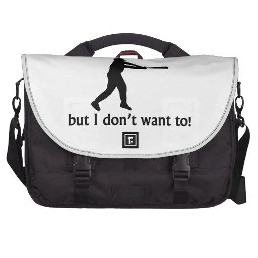 Podría vivir sin béisbol bolsas de portatil