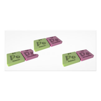Pods as Po Polonium and Ds Darmstadtium Rack Card Design