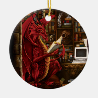 Podthology the Pod Complex Double-Sided Ceramic Round Christmas Ornament