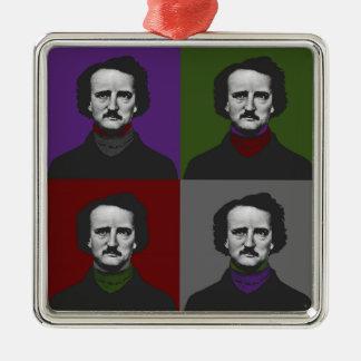 Poe Adorno Navideño Cuadrado De Metal