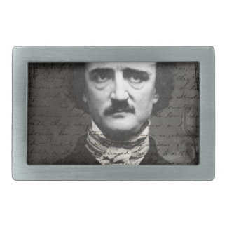 Poe Black and White Grunge Belt Buckles
