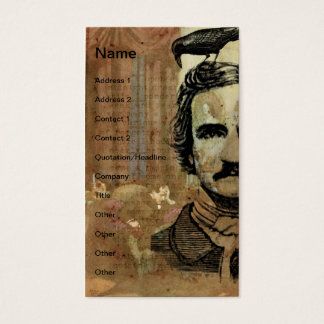 Poe Collage Vertical Business Card
