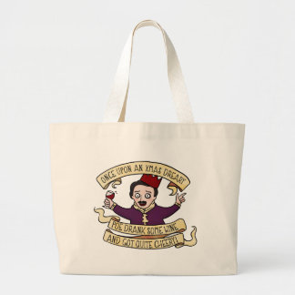 Poe Drank Some Wine And Got Quite Cheery Large Tote Bag
