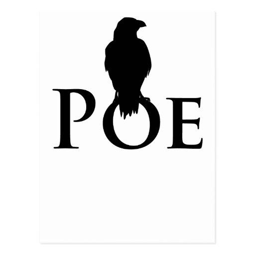 Poe Edgar Allan Poe and the raven Postcards