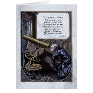 "Poe ""Evening Star"" Steampunk Victorian Art Card"