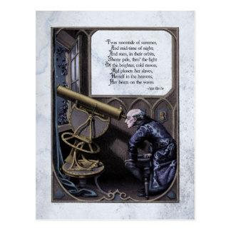 "Poe ""Evening Star"" Steampunk Victorian Postcard"