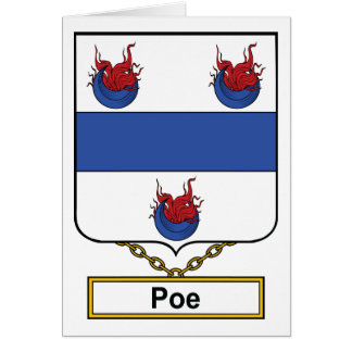Poe Family Crest Greeting Card