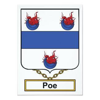 Poe Family Crest Personalized Invites