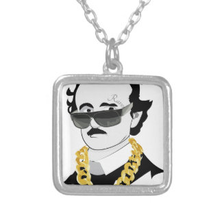 Poe Hip Hop Silver Plated Necklace