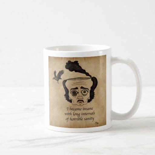 Poe insane coffee mug