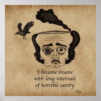 Poe insano póster