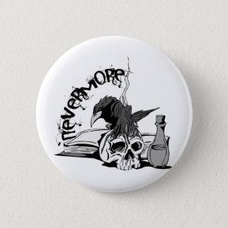 Poe Nevermore Raven Skull & Book Pinback Button
