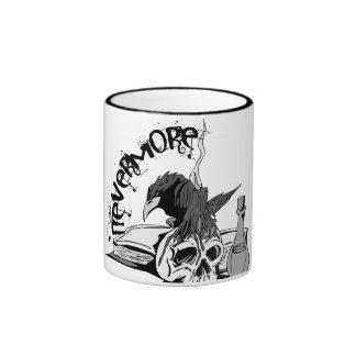 Poe Nevermore Raven Skull & Book Ringer Coffee Mug
