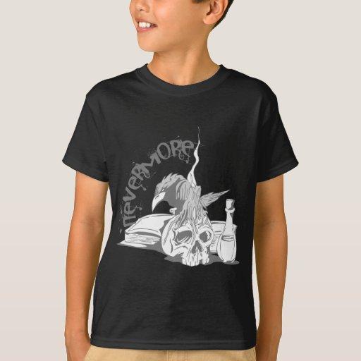 Poe Nevermore Raven Skull & Book T-Shirt