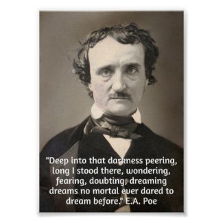 Poe on Darkness and Dreams Poster