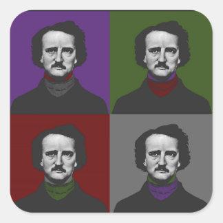 Poe Pegatina Cuadrada