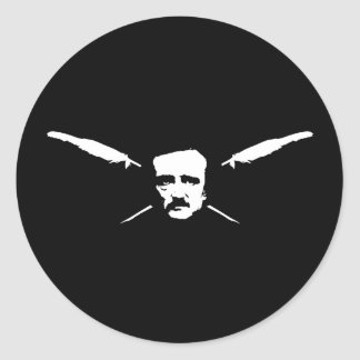 Poe Pegatina Redonda