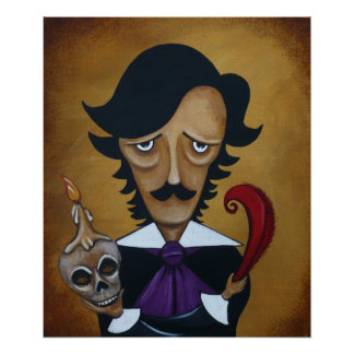 Poe Poster Edgar Allan Poe caricature art