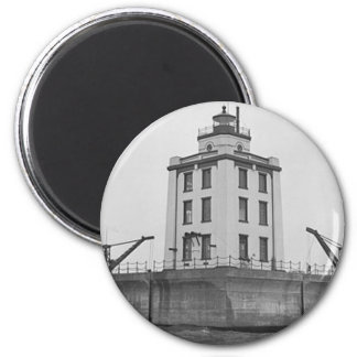Poe Reef Lighthouse 2 Inch Round Magnet