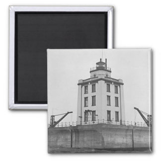 Poe Reef Lighthouse 2 Inch Square Magnet