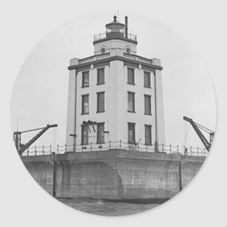Poe Reef Lighthouse Classic Round Sticker