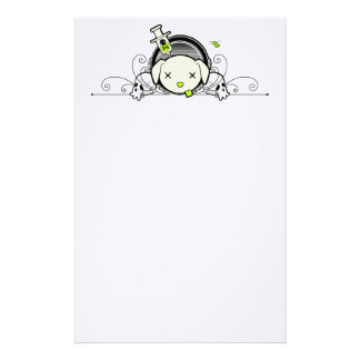 Poe the Goodbye Puppy Wreath Stationery