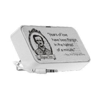 Poe: The Original Emo With Quote Laptop Speakers