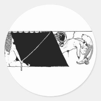 Poe Vignette 12 Classic Round Sticker