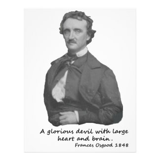 Poe with Frances Osgood Quotation Letterhead