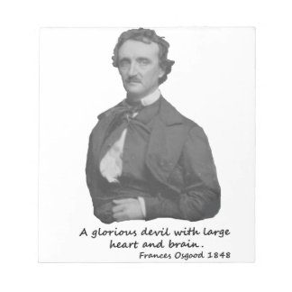Poe with Frances Osgood Quotation Notepad