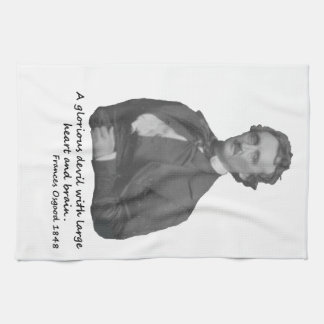 Poe with Frances Osgood Quotation Towel