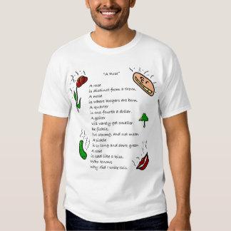 """Poem- """"A Rose"""" Tees"""