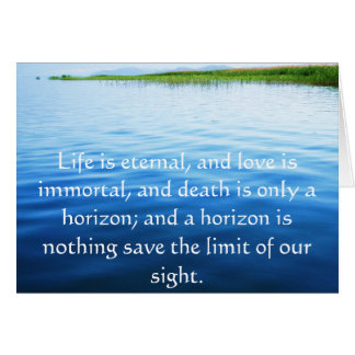Poem About Death -  Inspirational Grieving Quote Greeting Card