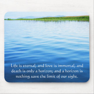 Poem About Death -  Inspirational Grieving Quote Mouse Pad