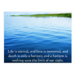 Poem About Death -  Inspirational Grieving Quote Post Cards