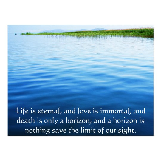 Inspirational Grieving Quote Postcard