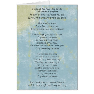 Poem about Loss and Grieving Card