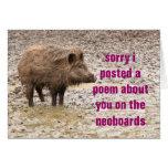 poem apology greeting card