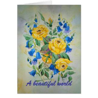 Poem Card Blue Bell Roses