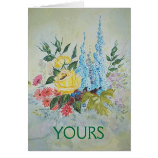 Poem Card Flower Bouquet