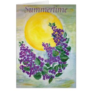 Poem Card Lilacs in midsummer sun