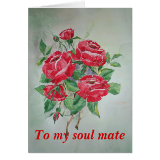 Poem Card Red Roses