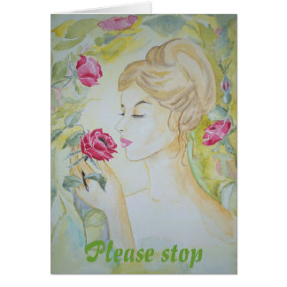 Poem Card Stop and smell the Roses