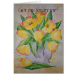 Poem Card Yellow Tulips