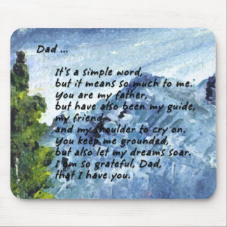 Poem for Dad Mouse Pad