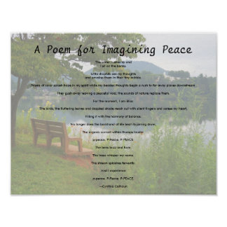 Poem for Imagining Peace Poster