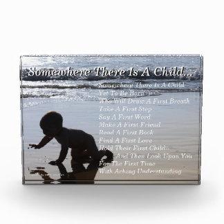 Poem For New Parents Acrylic Desktop Keepsake Acrylic Award