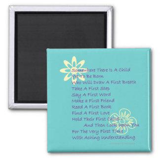 Poem for New Parents Fridge Magnet